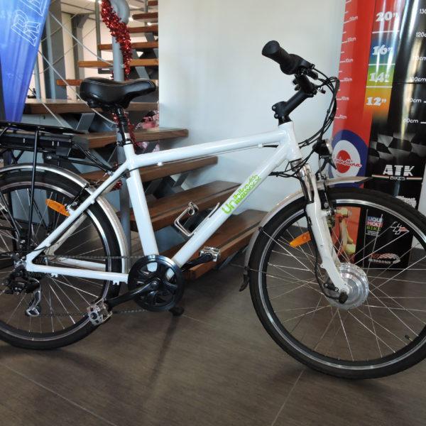 Bicicletta Elettrica Unibike Eb22 1 Bianco Pedalata Assistita Ricambigmit